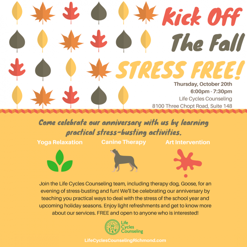 Kick off the Fall Stress Free at Life Cycles Counseling