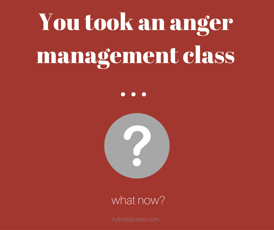 You Took an Anger Management Class - What Now?
