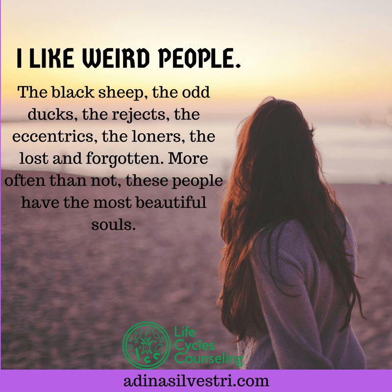 adinasilvestri.com quote of the day celebrate weirdness