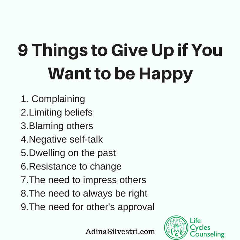 adinasilvestri. com quote of the day counseling, how to be happy
