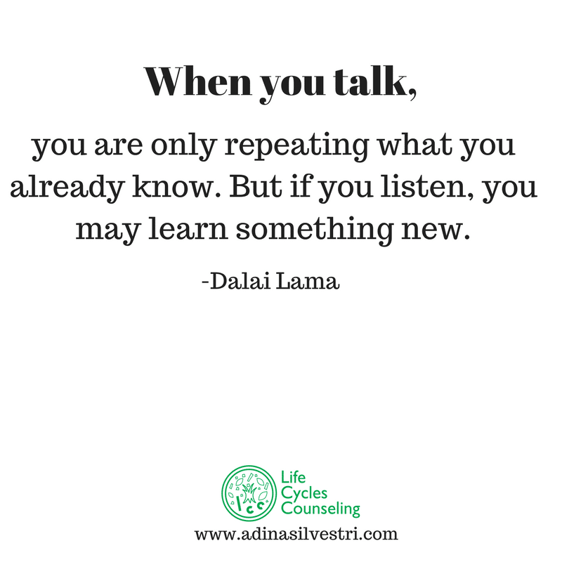 adinasilvestri.com quote of the day just listen