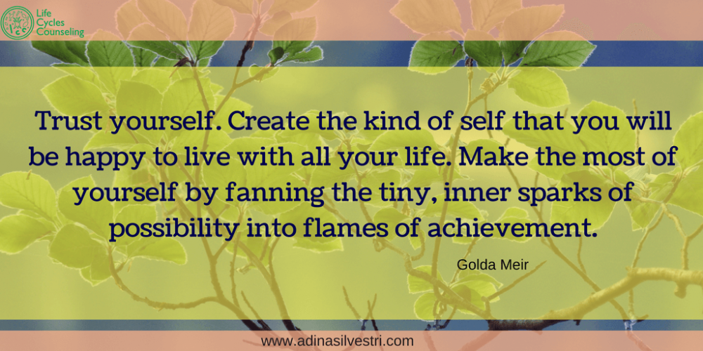 adinasilvestri.com quote of the day Trust Yourself