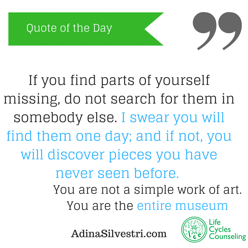 adinasilvestri.com quote of the day stop searching