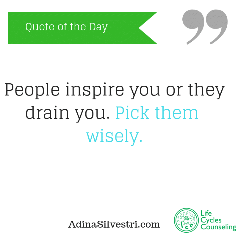 adinasilvestri.com quote of the day pick wisely