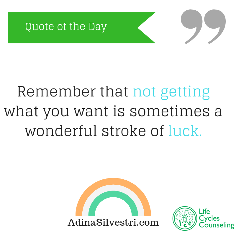 adinasilvestri.com quote of the day luck