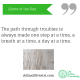 adinasilvestri.com quote of the day The path