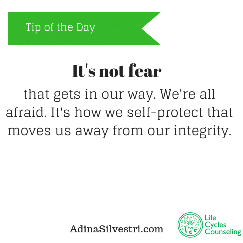 adinasilvestri.com tip of the day It's not fear