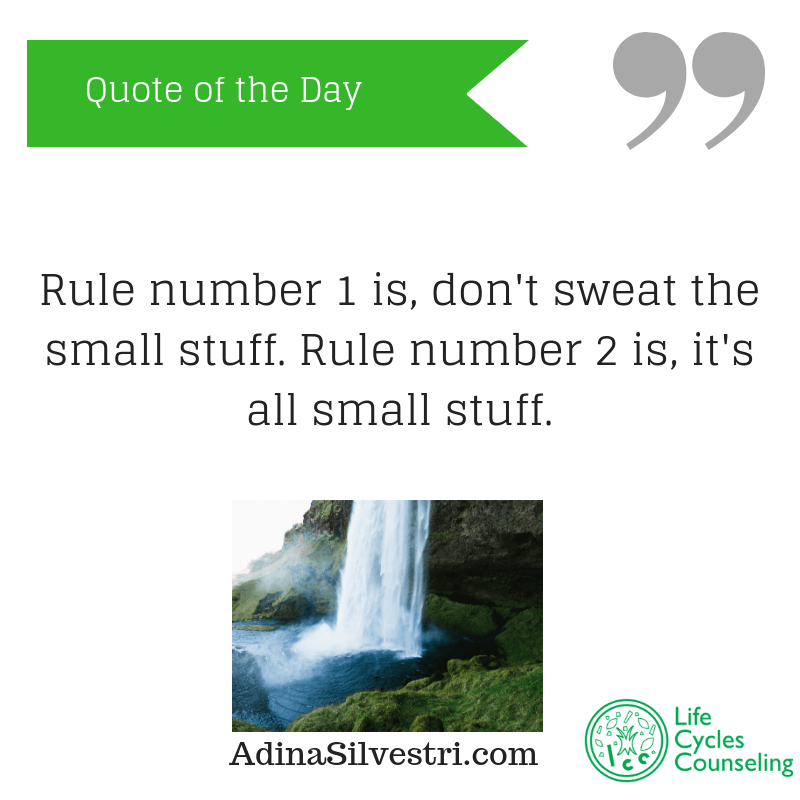 adinasilvestri.com quote of the day don't sweat it.