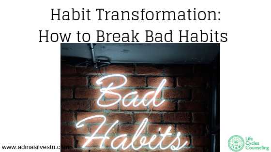 image of a neon sign that reads Bad Habits