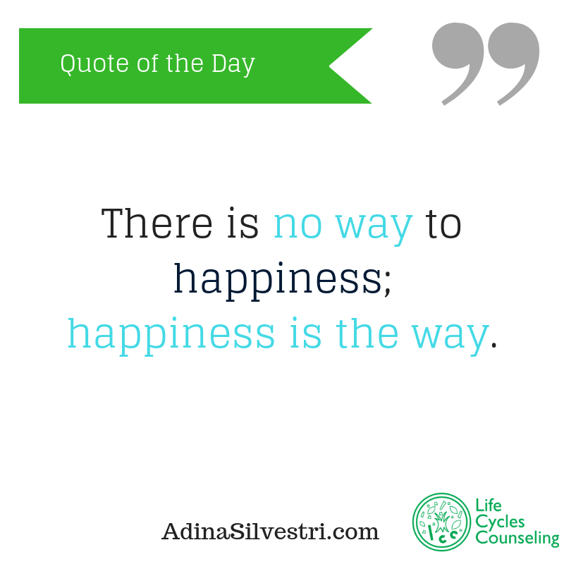adinasilvestri.com quote of the day there is no way