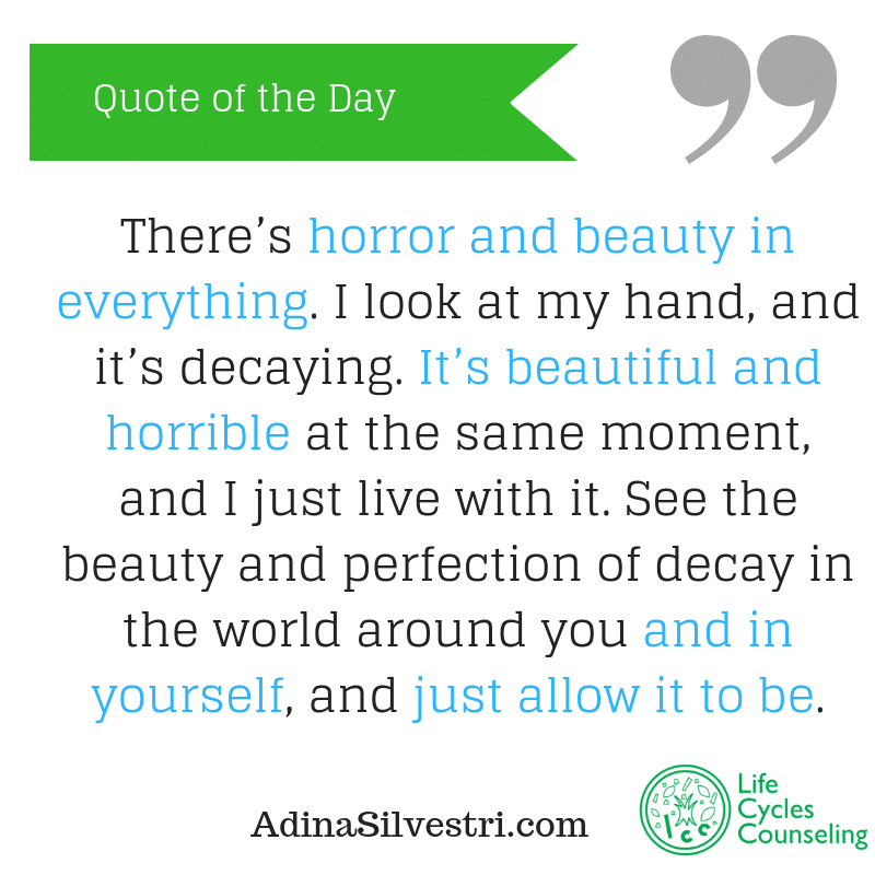 AdinaSilvestri.com quote of the day just allow it to be