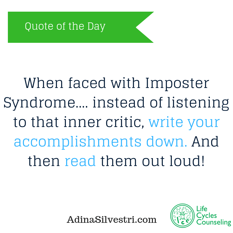 adinasilvestri.com quote of the day Imposter Syndrome