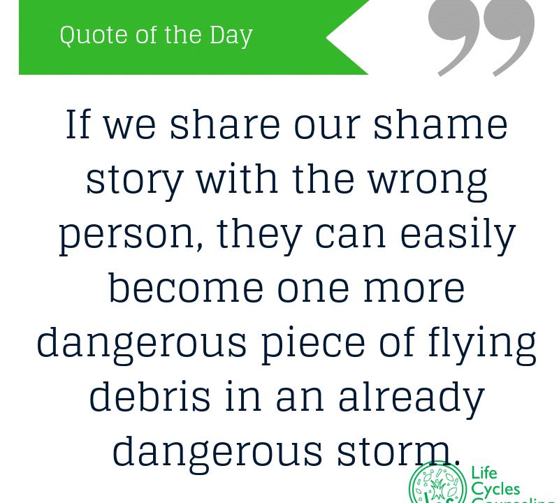adinasilvestri.com quote of the day shame story