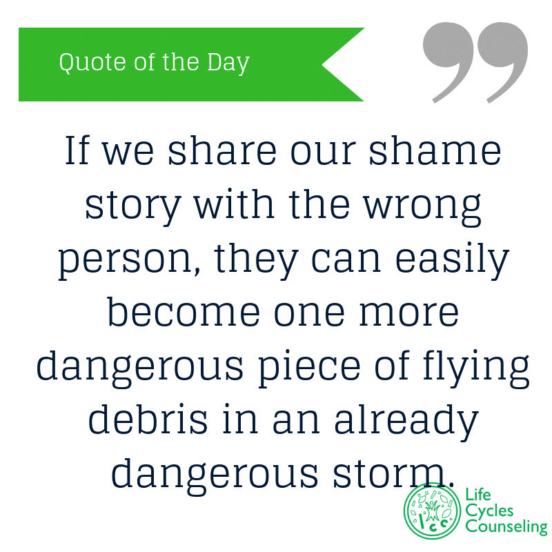 adinasilvestri.com quote of the day shame story