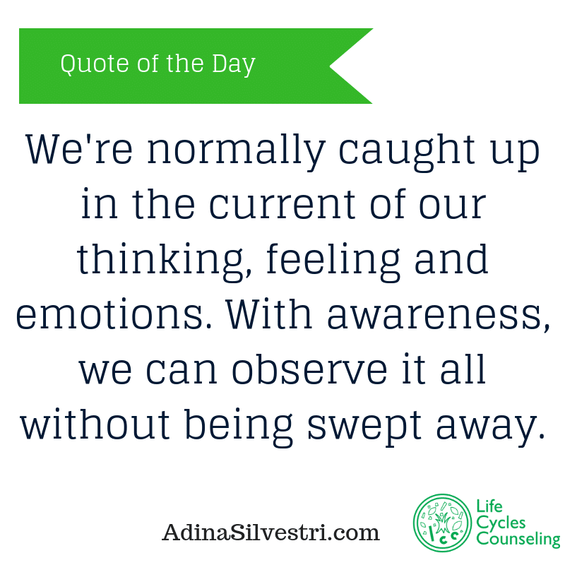 adinasilvestri.com quote of the day be aware
