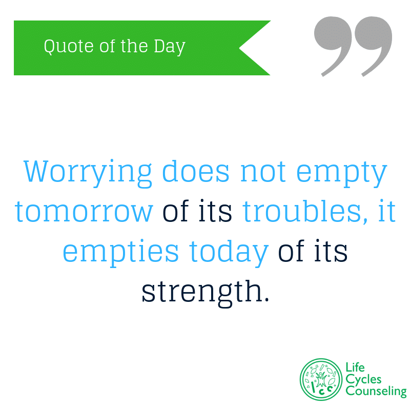 adinasilvestri.com quote of the day worrying