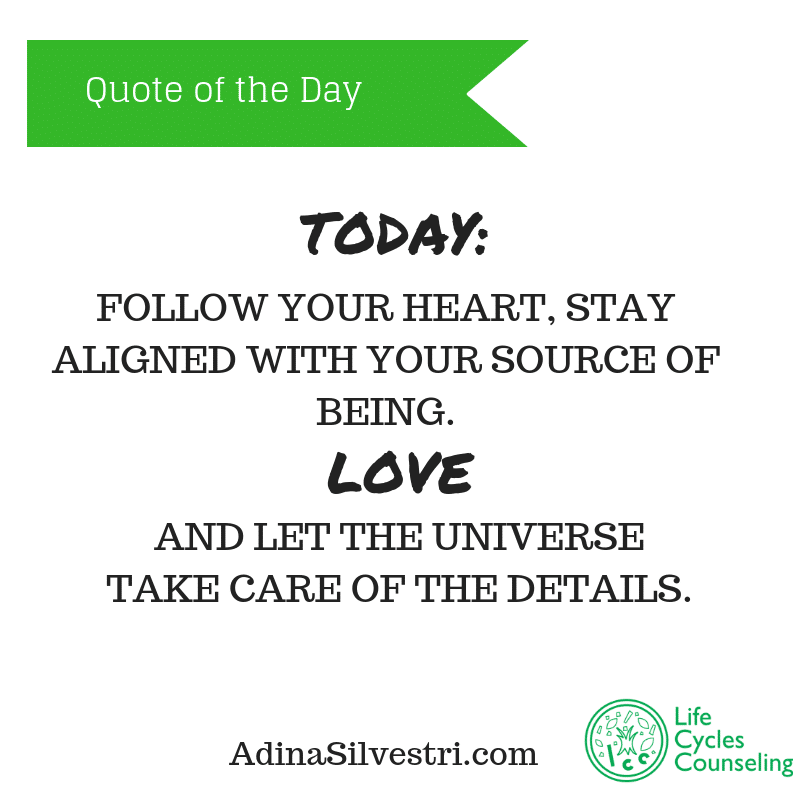 adina silvestri quote of the day for today.