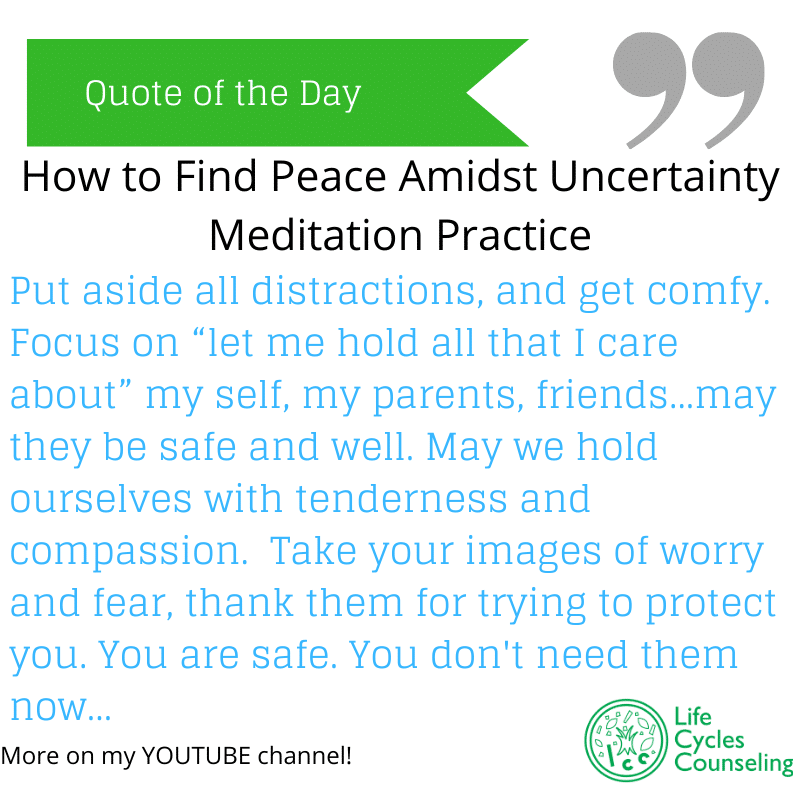 image of an excerpt from how to find peace amidst uncertainty meditation