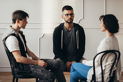 Group therapy brings people together who struggle with similar i