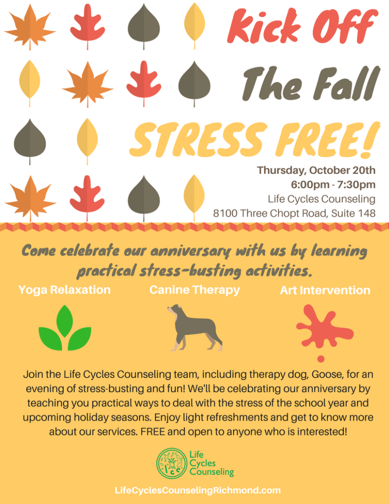 stress busting fall open house